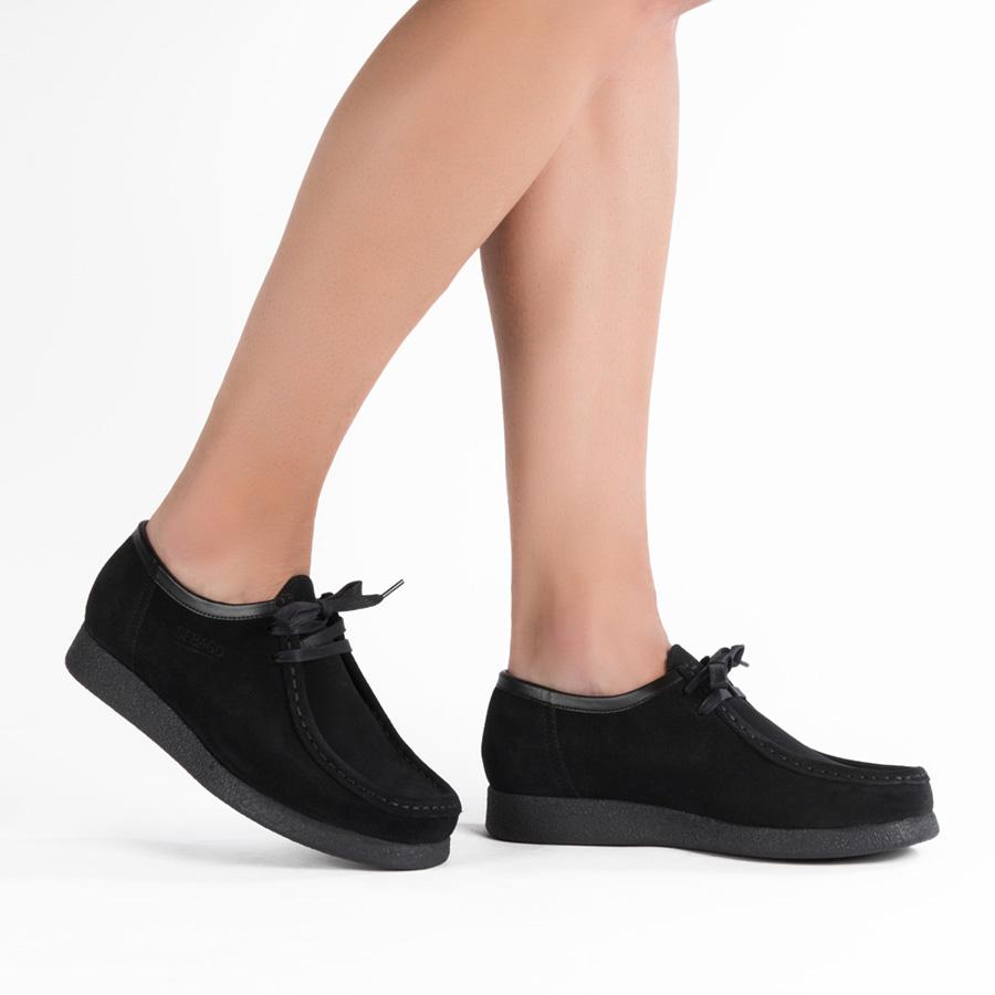 Uniseks plitka cipela Sebago u crnom veluru