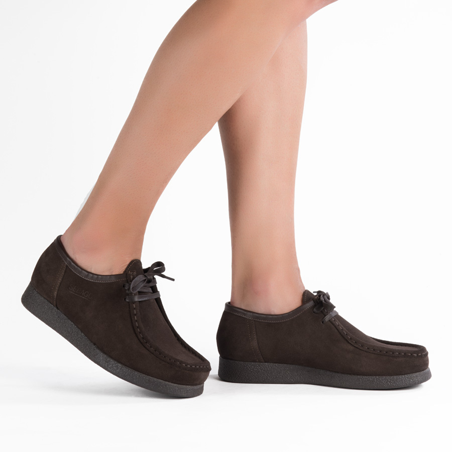Ženska plitka cipela Sebago u braon veluru