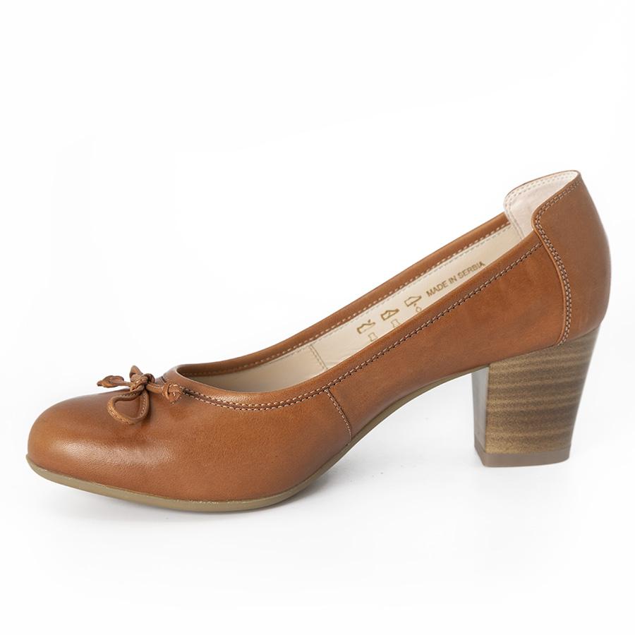 Udobna ženska cipela u konjak koži
