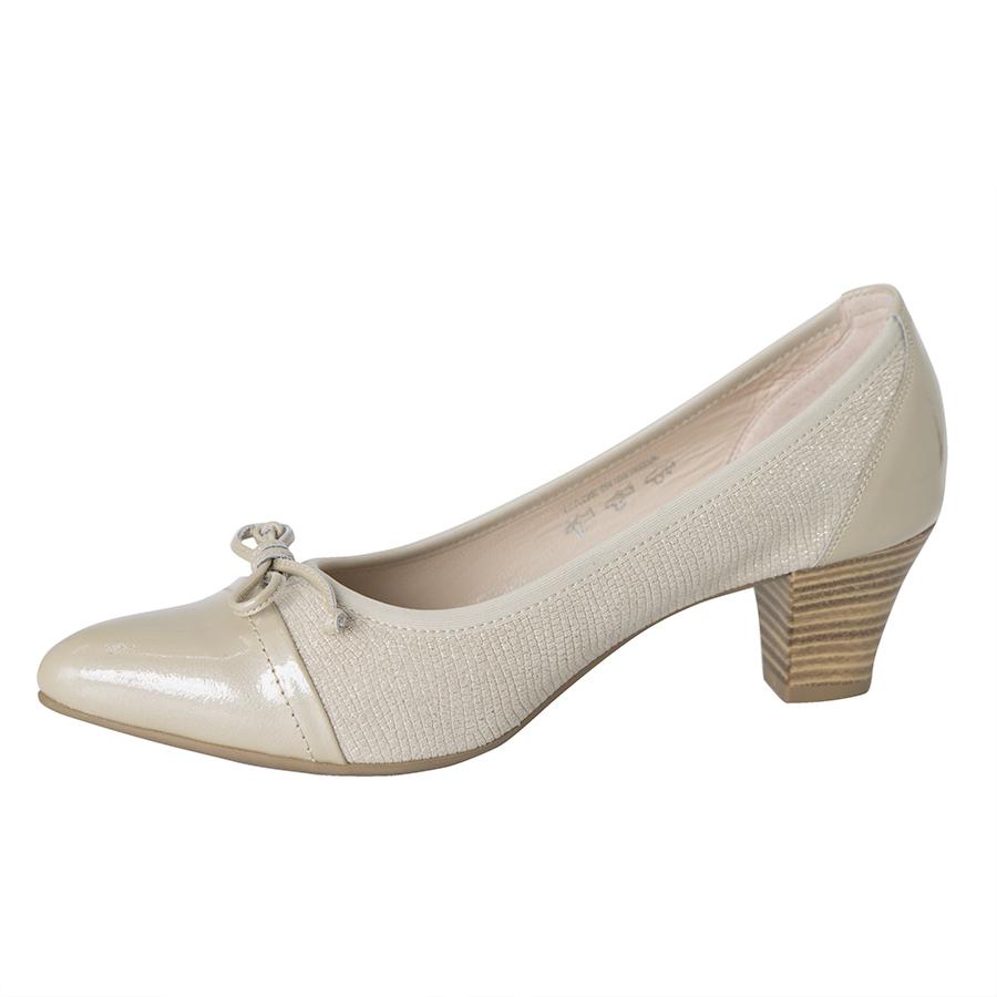 Elegantna ženska cipela u bež koži